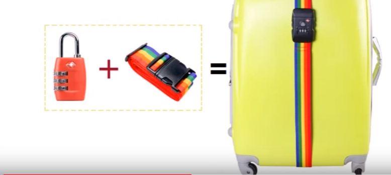 dây đai vali có khoá bảo vệ hành lý an toàn