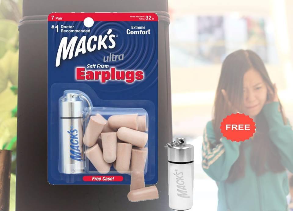 bịt tai chống ồn khi ngủ thương hiệu Mack