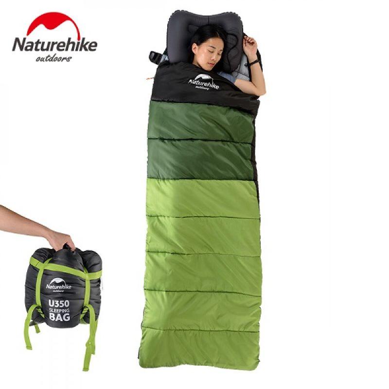 Túi ngủ du lịch U250 Naturehike màu xanh