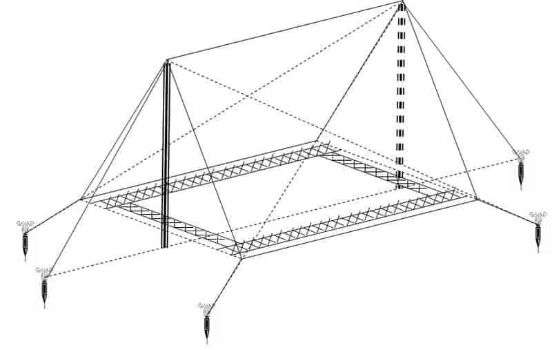 Cách dựng lều cắm trại hình chữ A