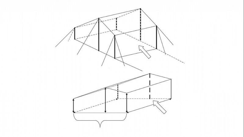 Cách dựng lều trại hình vuông